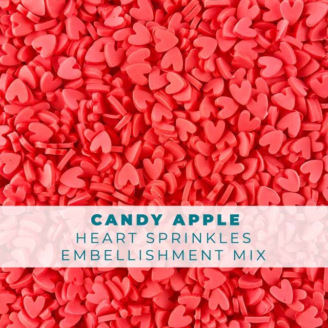 *Sprinkles* Candy Apple Heart Sprinkle Embellishments