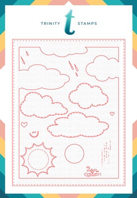 Cloudy Day A-2 Card Scene Builder Die Set