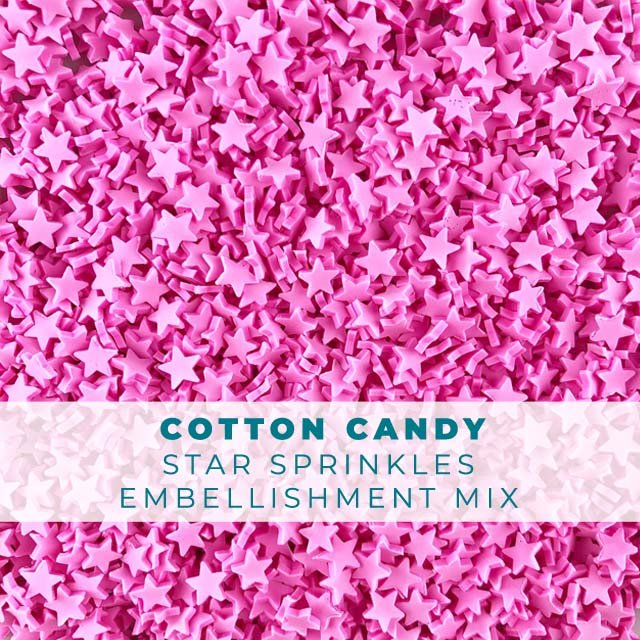 *Sprinkles* Cotton Candy Star Sprinkle Embellishments