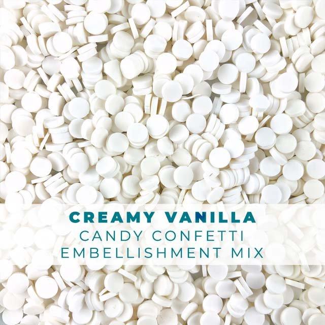 *Sprinkles* Creamy Vanilla Candy Confetti Embellishments