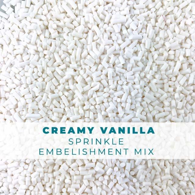 *Sprinkles* Creamy Vanilla Sprinkle Embellishments