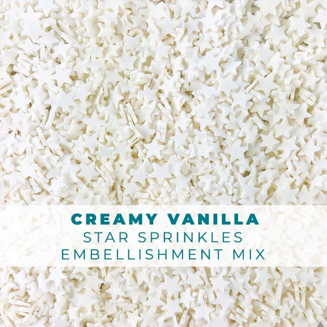 *Sprinkles* Creamy Vanilla Star Sprinkle Embellishments