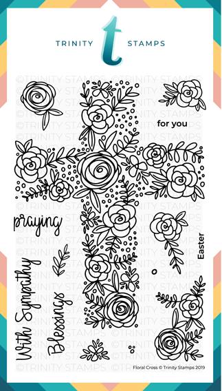 4x6 Floral Cross Stamp Set