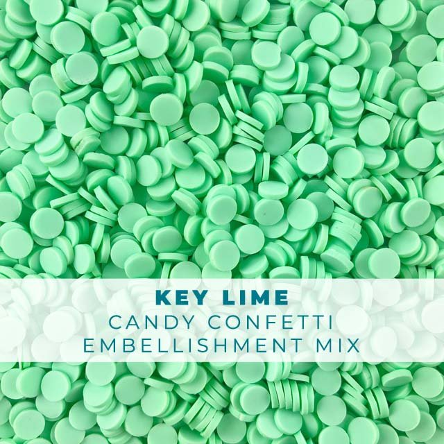 *Sprinkles* Key Lime Candy Confetti Embellishments