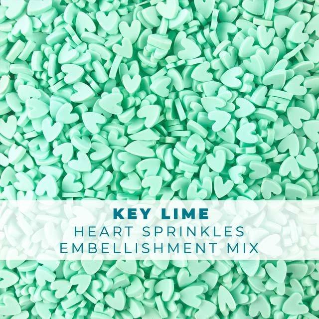 *Sprinkles* Key Lime Heart Sprinkle Embellishments