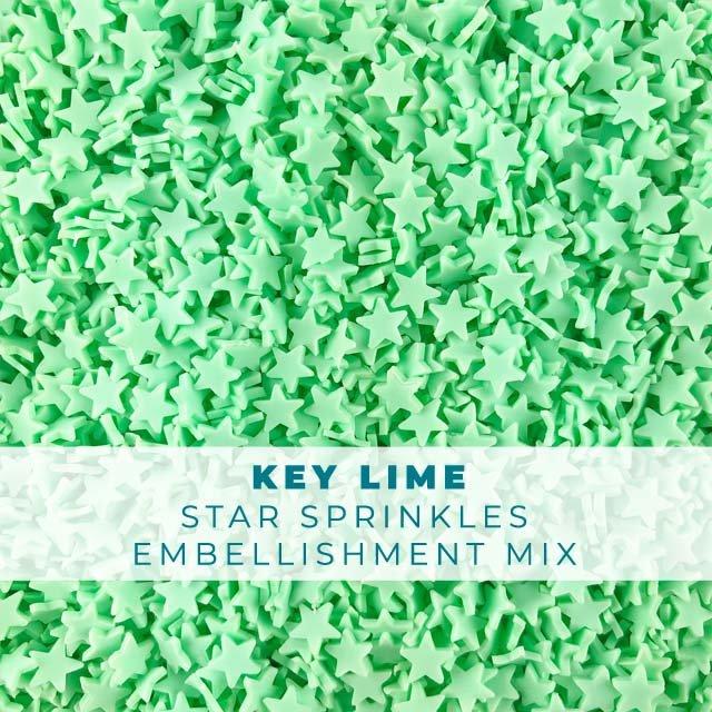*Sprinkles* Key Lime Star Sprinkle Embellishments