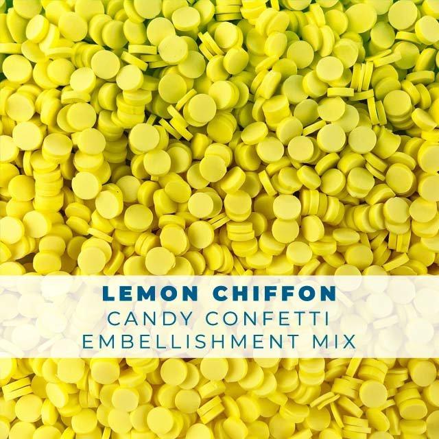 *Sprinkles* Lemon Chiffon Candy Confetti Embellishments
