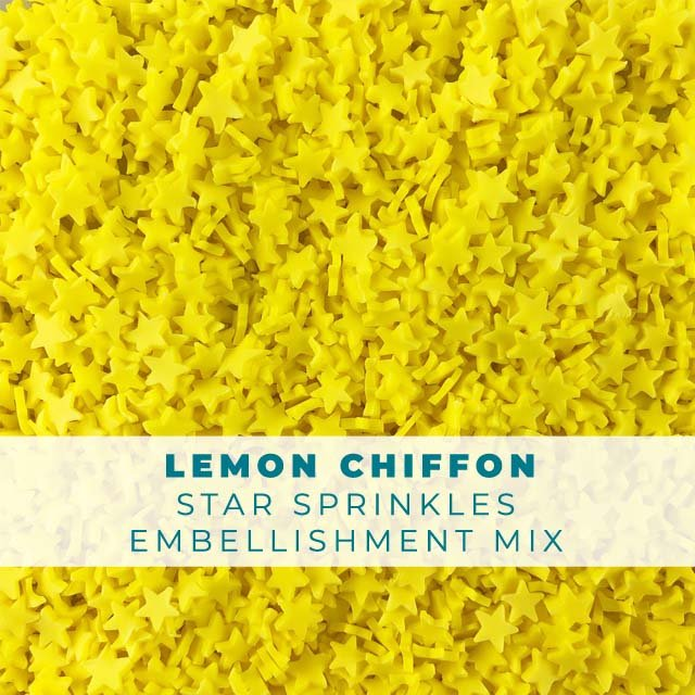 *Sprinkles* Lemon Chiffon Star Sprinkle Embellishments
