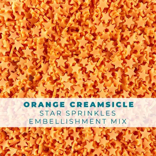 *Sprinkles* Orange Creamsicle Star Sprinkle Embellishments