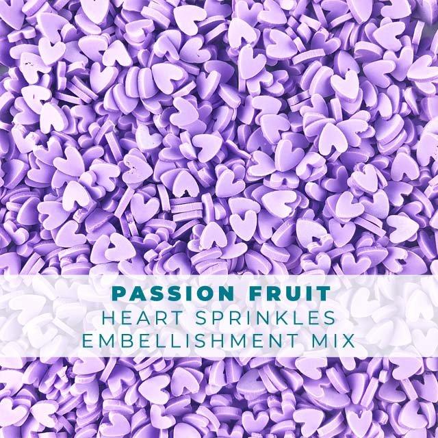 *Sprinkles* Passion Fruit heart Sprinkle Embellishments