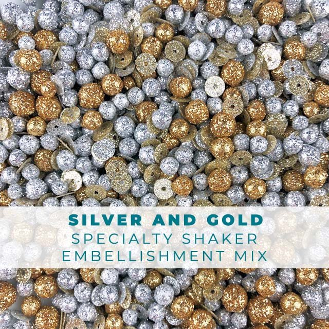 Silver & Gold Embellishment Mix