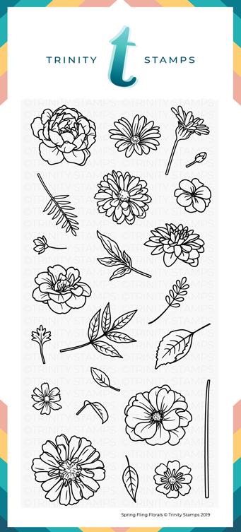 4x8 Spring Fling Florals Stamp Set
