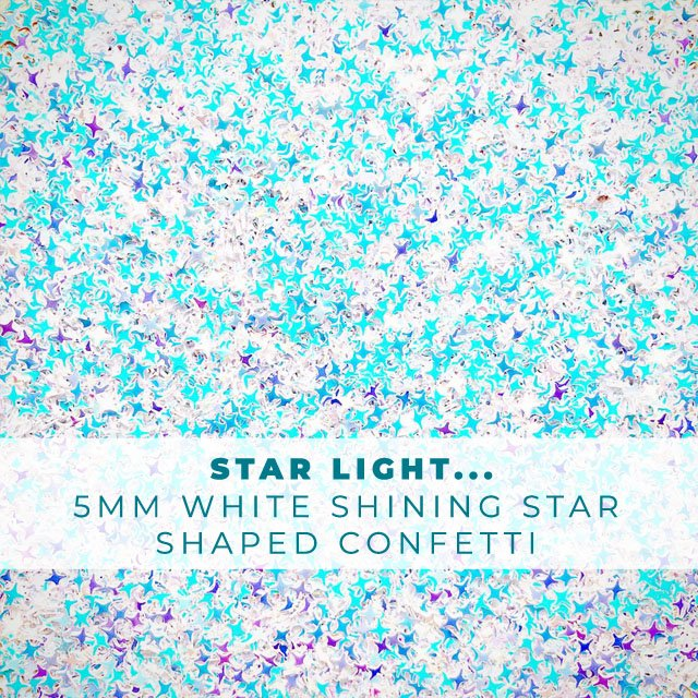 Star Light...- 5mm Shining Star Confetti Embellishment Mix