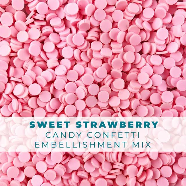 *Sprinkles* Sweet Strawberry Candy Confetti Embellishment