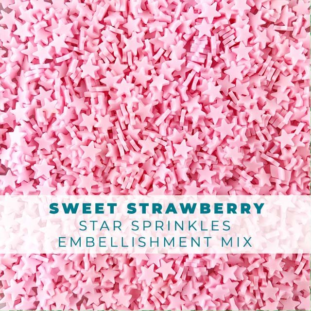 *Sprinkles* Sweet Strawberry Star Sprinkle Embellishments