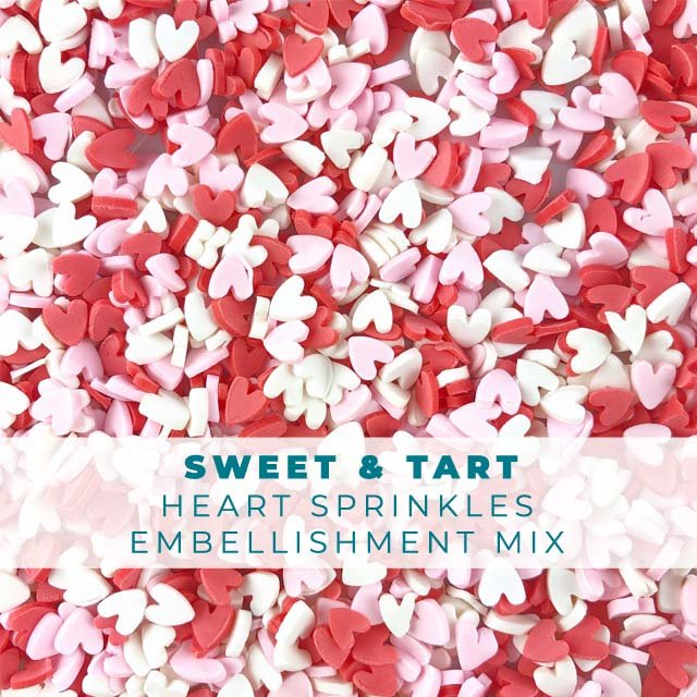 *Sprinkles* Sweet & Tart Heart Sprinkle Embellishments