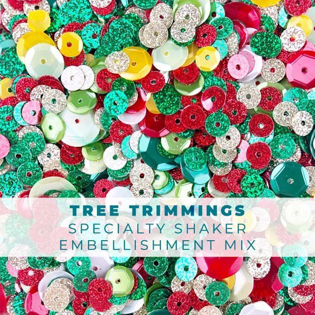Tree Trimmings Specialty Shaker Embellishment Mix