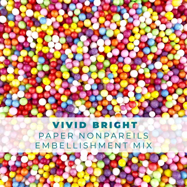 Vivid Bright Paper Nonpareils Embellishment mix