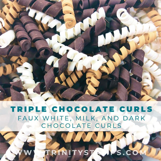 Triple Chocolate Curls: flexible and soft faux candy curls