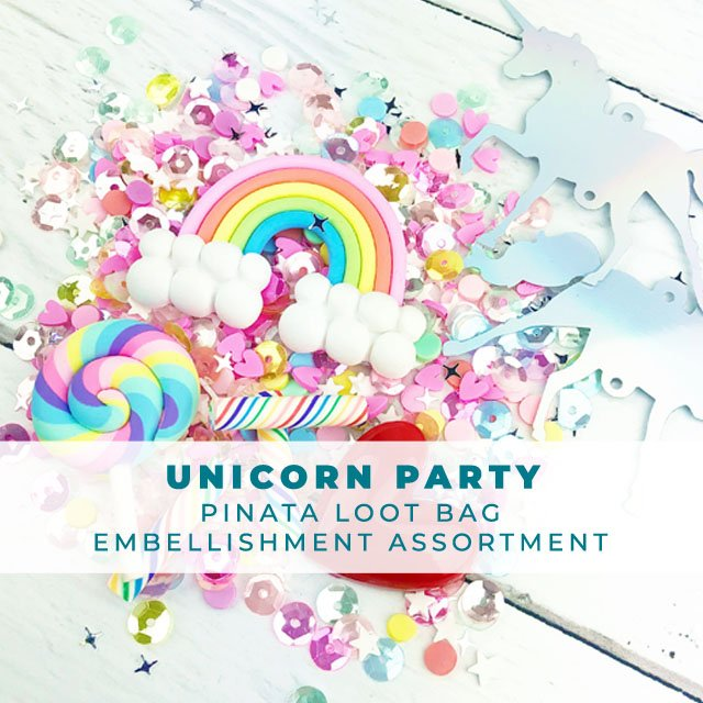 Unicorn Party - Pinata Loot Bag Embellishment Assortment