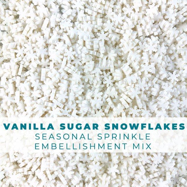 *Sprinkles* Vanilla Sugar Snowflakes Sprinkle Embellishments
