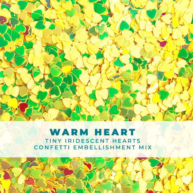Warm Heart - Itty-bitty iridescent heart confetti