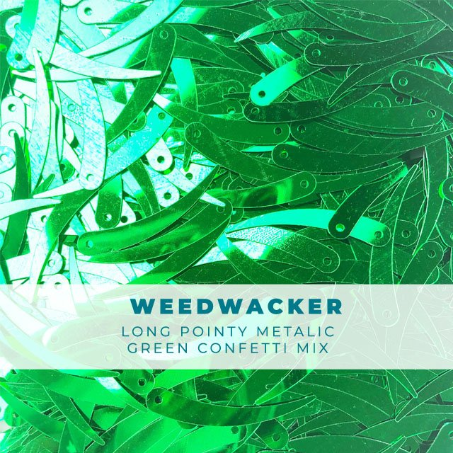 Weedwacker: Long green confetti pieces