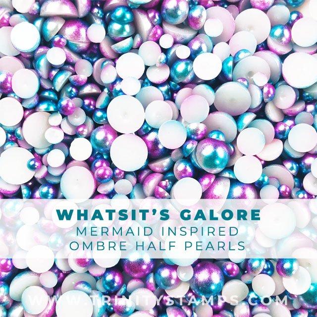 Whatsit's Galore: Purple and Blue Mermaid half pearls