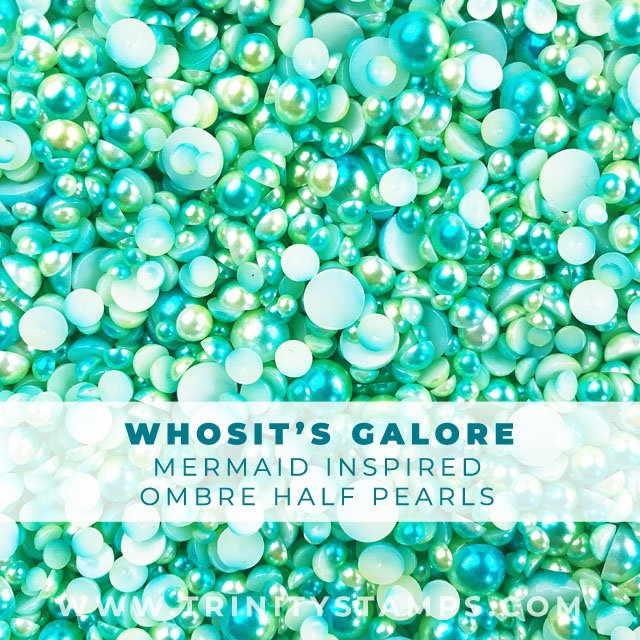 Whosit's Galore: Green and Lime Mermaid half-pearls