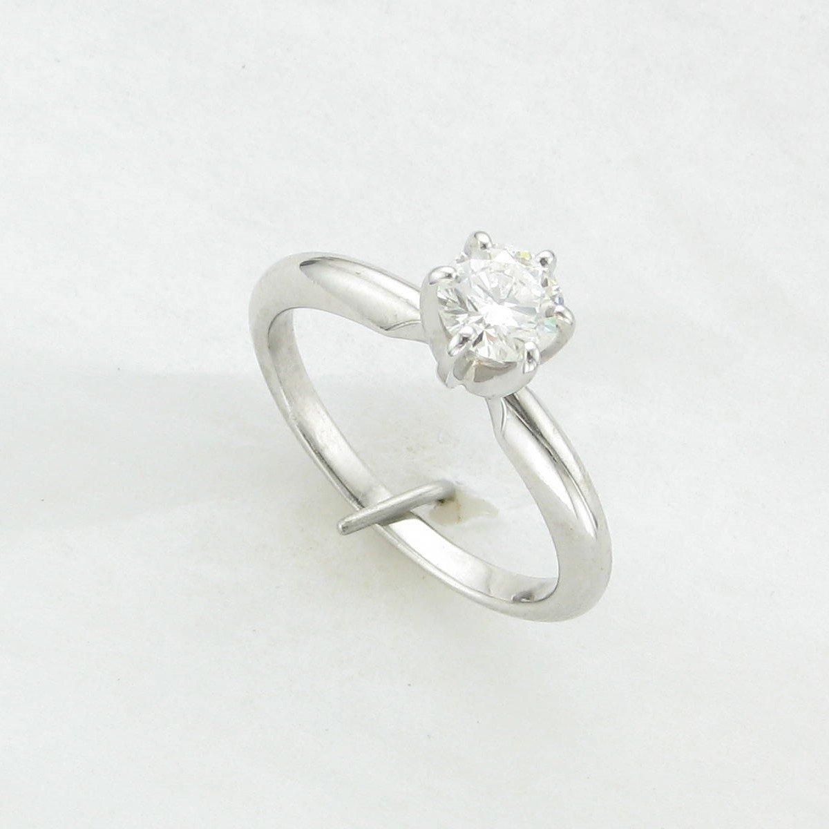 0.50ct Round Diamond Ring Set in 14 Karat White Gold