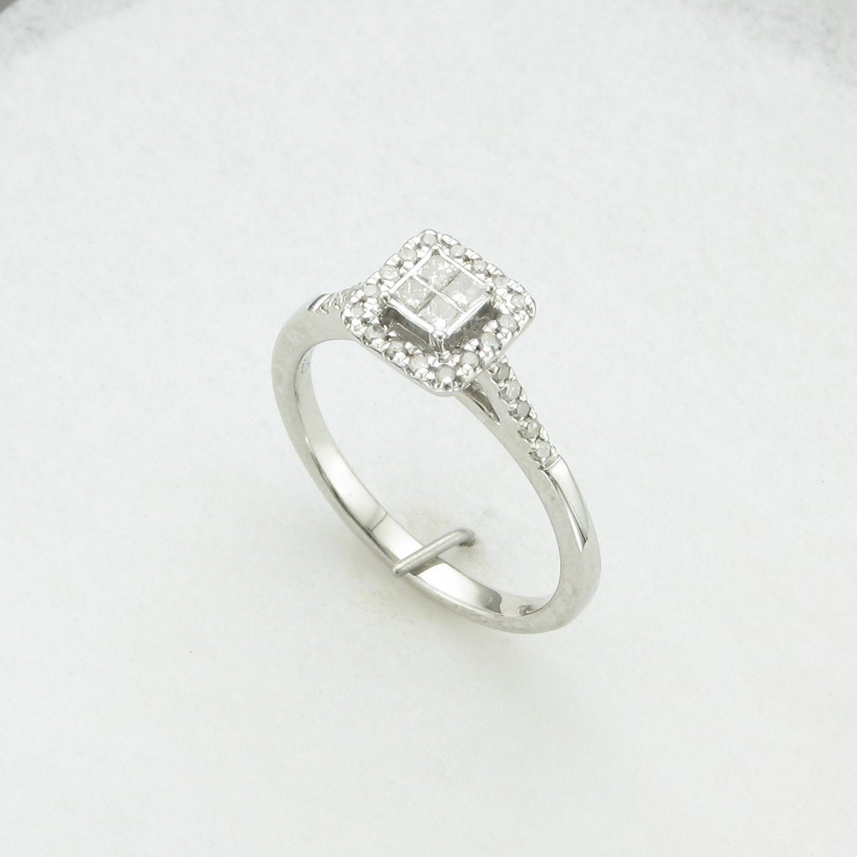 0.30tcw Illusion  Diamond Ring Set in 10 Karat White Gold