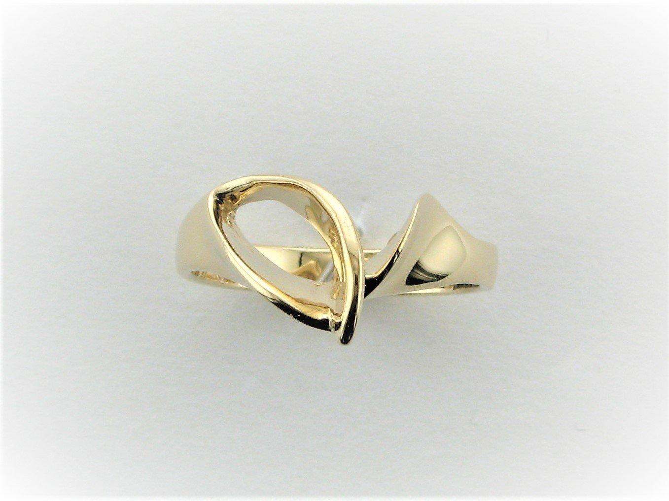 Freeform Designer Ring Set in 14 Karat Yellow Gold