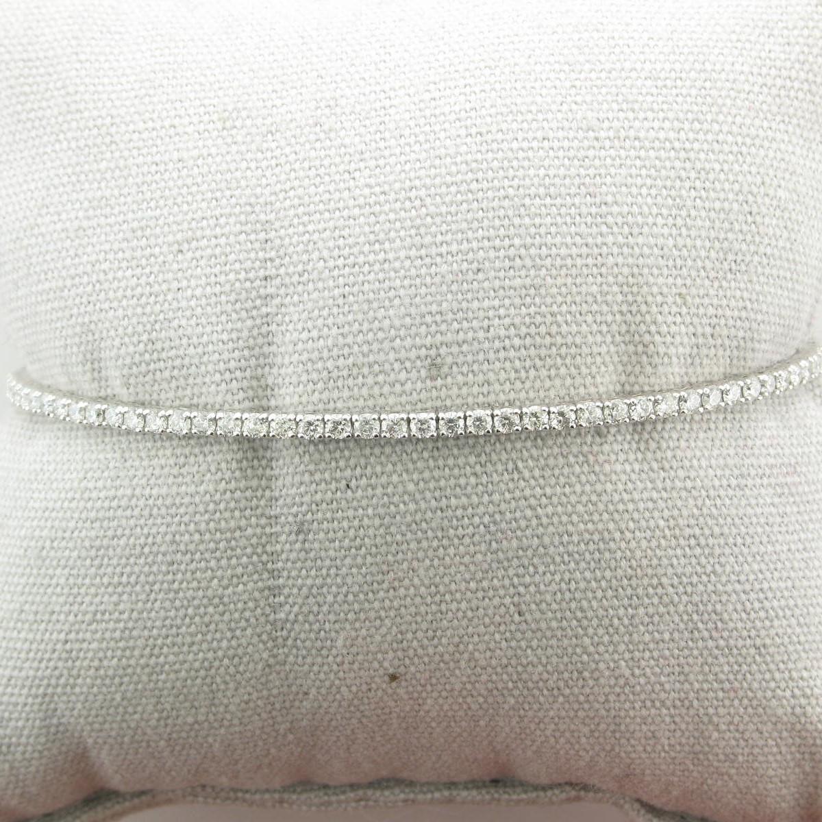 1.15tcw Diamond Flexible Bangle set in 14k White Gold