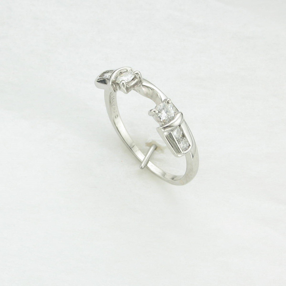 0.30 tcw Diamond Jacket Ring set in 14K White Gold