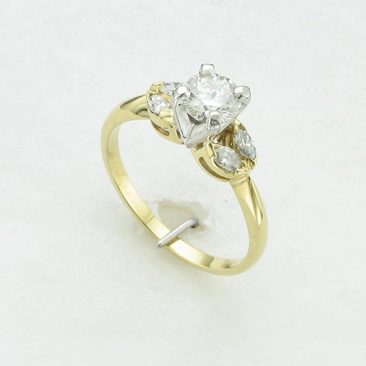0.57ct Diamond Ring Set in 18 Karat Yellow Gold