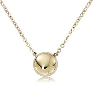 14 Karat Yellow Gold Ball Necklace