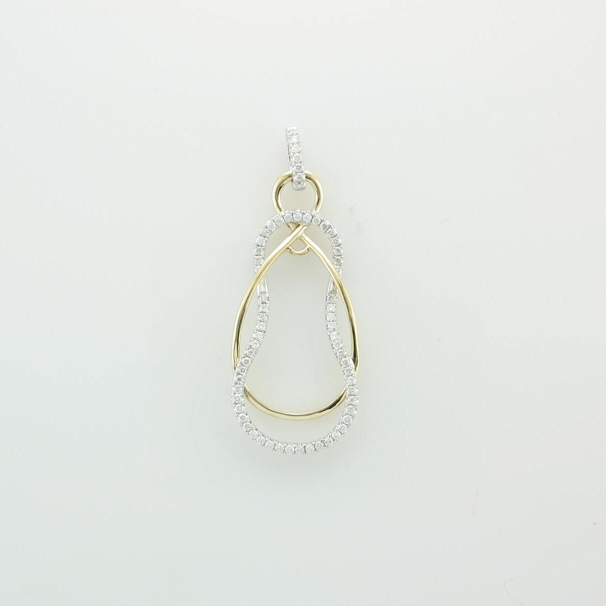 0.34tcw Two Tone Diamond Pendant in 14k Yellow & White Gold
