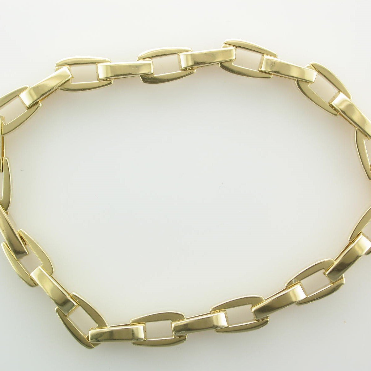 18K Yellow Gold Cast Link Bracelet