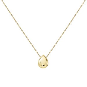 14 Karat Yellow Gold Large Teardrop Necklace