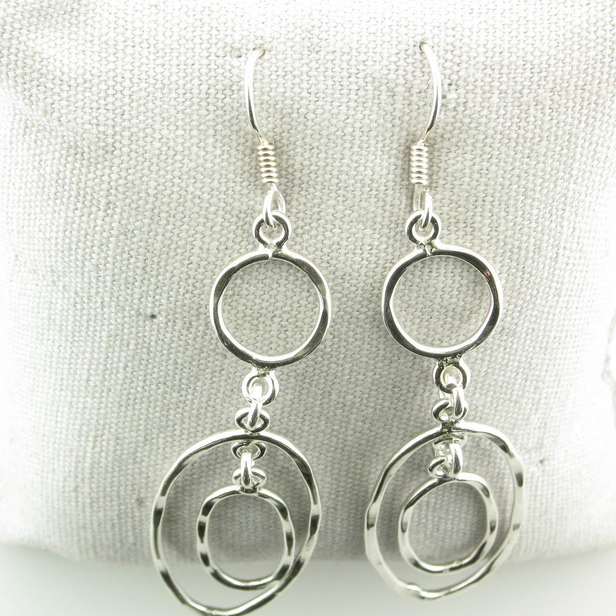 Sterling Silver Drop Earring with Ovals & Circles