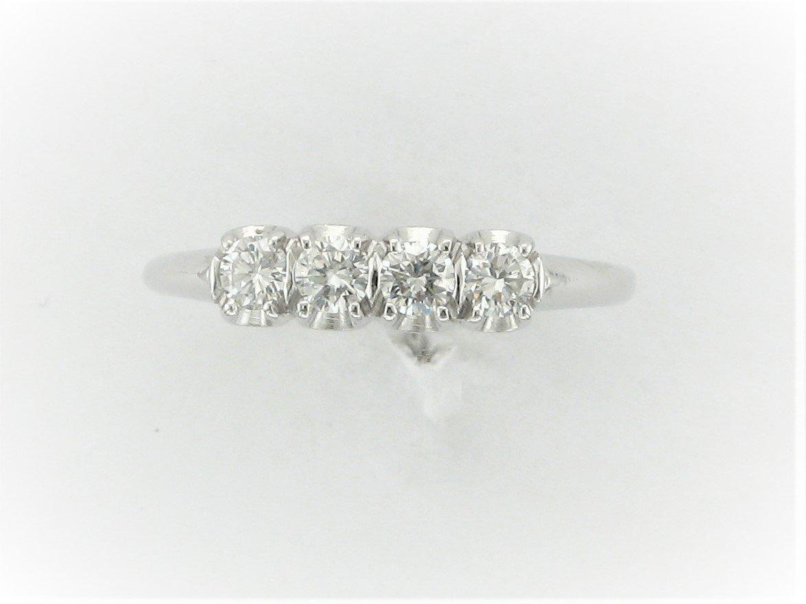 0.30 Total Carat Weight Diamond Ring Set  in 18 Karat White Gold