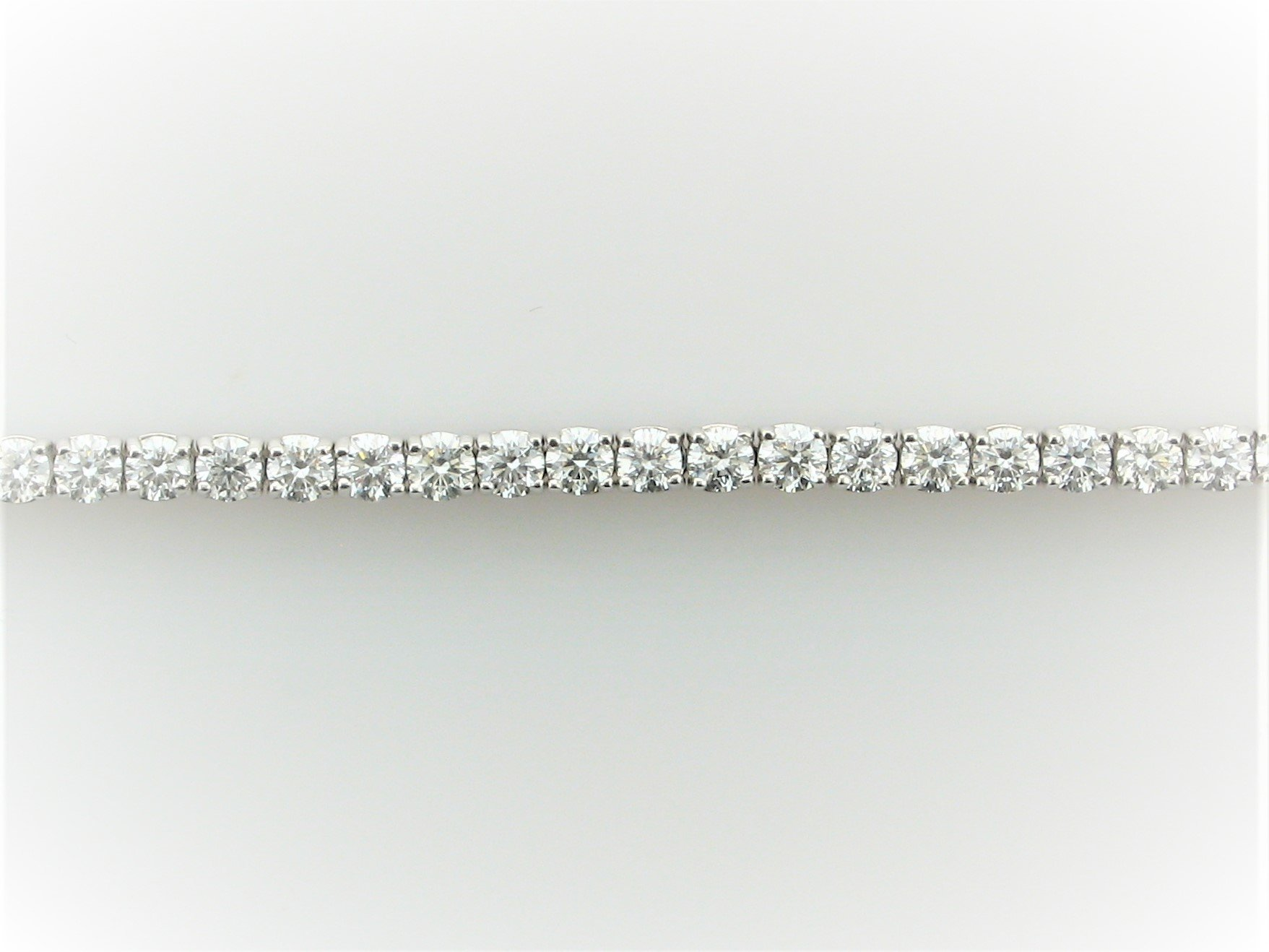 5.0 Total Carat Weight  Diamond Tennis Bracelet in 14 Karat White Gold