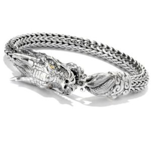 Tulang Naga Dragon Bracelet in Sterling Silver and 18k Yellow Gold