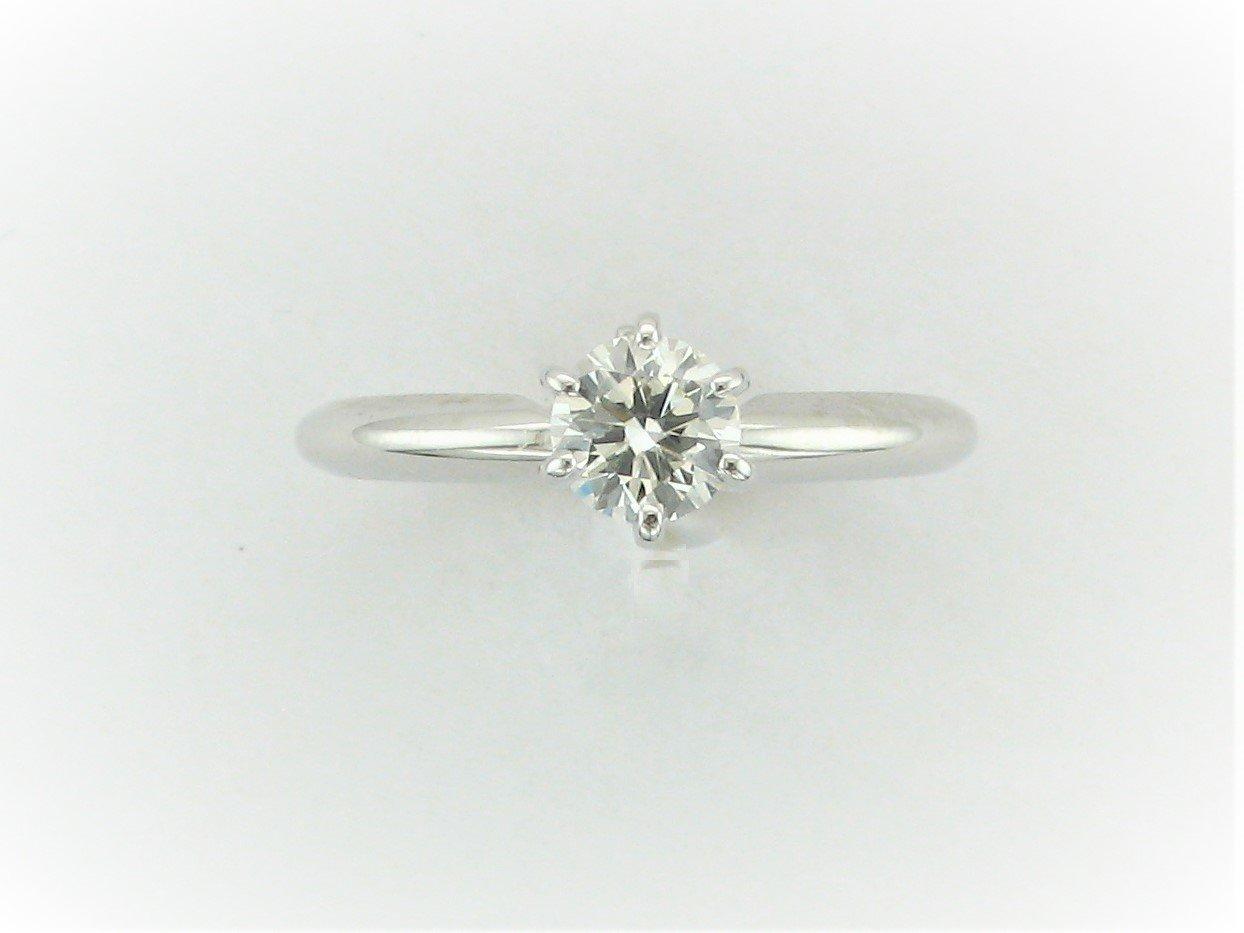 0.50 Total Carat Weight Round Diamond Ring Set in 14 Karat White Gold