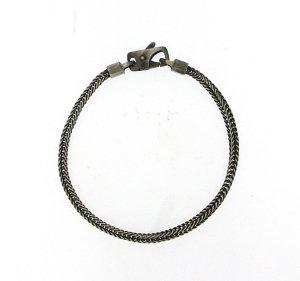 8.5 Square Tulang Naga Italian Chain Bracelet in Sterling Silver