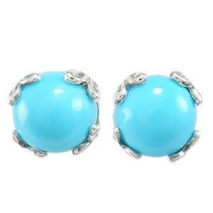 7 mm Round Sleeping Beauty Turquoise Studs