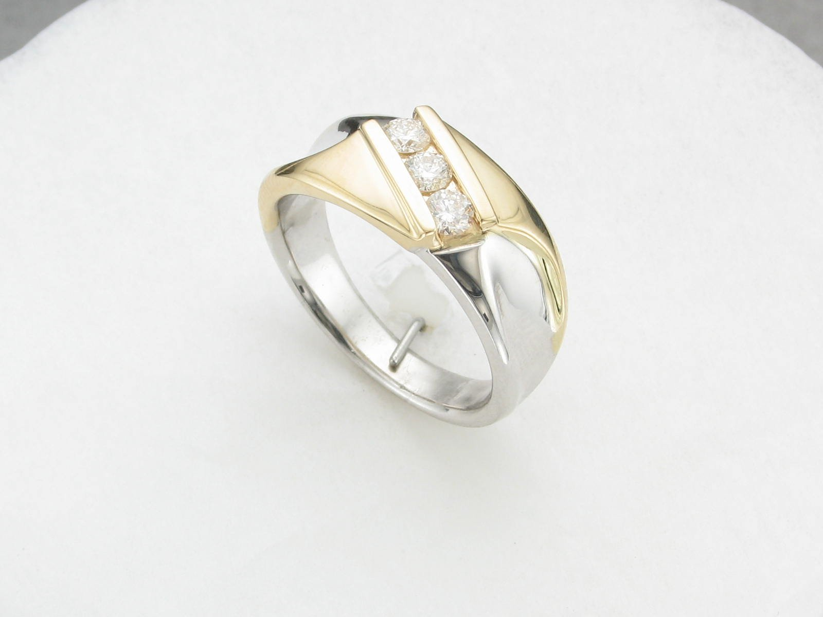 0.45tcw Two Tone Diamond Ring Set in 14 Karat Yellow & White Gold