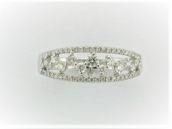 0.48 Total Carat Weight Round Diamond Band Set in 14 Karat White Gold