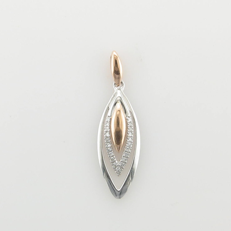 0.05tcw Diamond Pendant Set in 14 Karat White and Rose Gold