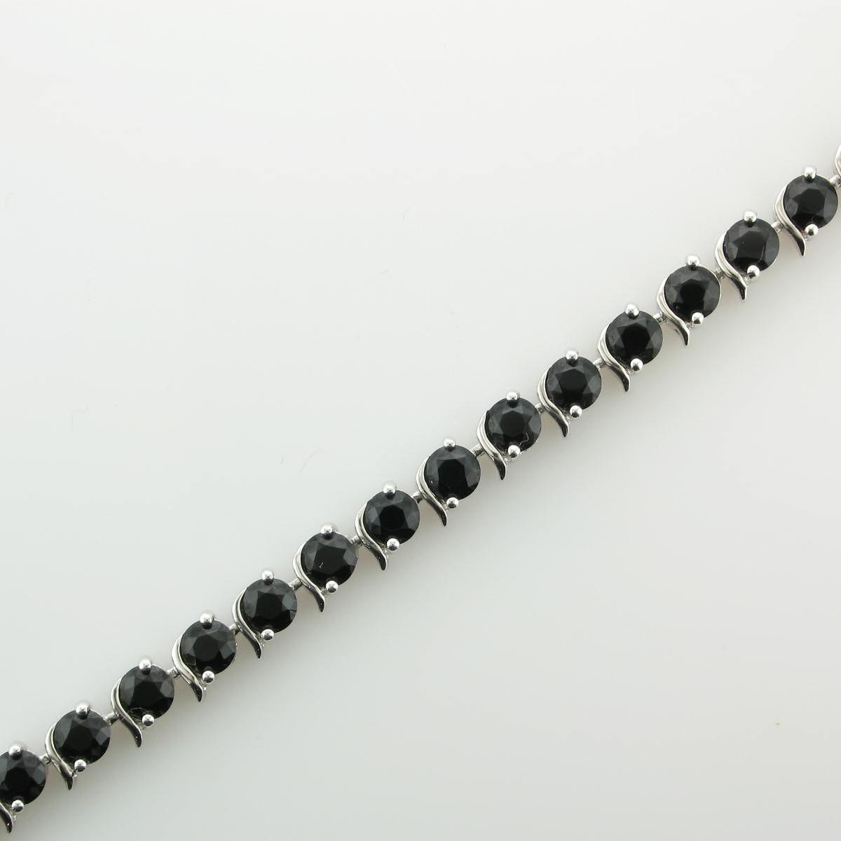 8.64tcw Black Onyx Bracelet set in Sterling Silver